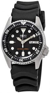 Seiko Black Automatic Dive Watch