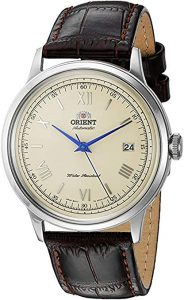 Orient Men's Stainless Steel and Leather Dress Watch