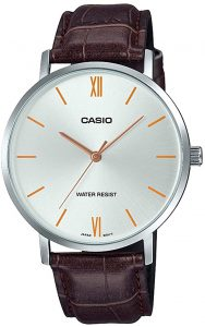 Casio Men's Minimalistic Leather Band Watch
