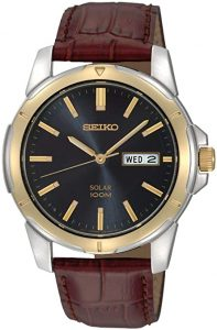 Seiko Men's SNE102 Stainless Steel Solar Watch