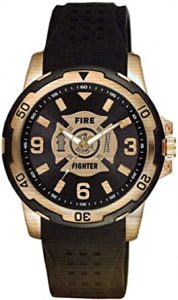 Aquaforce Firefighter Brass and Stainless Steel Etched Dial Mens Watch