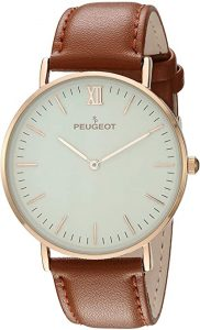 Peugeo Super Slim 14K Gold with Adjustable Leather Sheffield Band