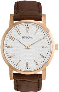 Bulova Men's Leather Strap Watch
