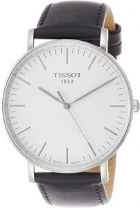 Tissot Everytime Silver/Black Leather Men's Watch