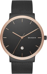 Skagen Men's Ancher Stainless Steel and Mesh Watch