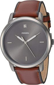 Fossil Men Minimalist Carbon Series Stainless Steel Watch