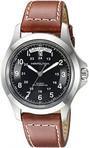 Hamilton Men's H64455533 Khaki King Series Automatic Watch with Brown Leather Band
