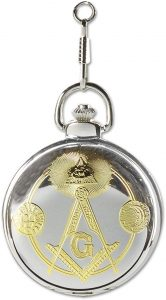 Square & Compass Pocket Watch