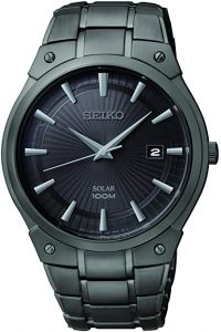 Seiko Men's Dress Solar Black Watch