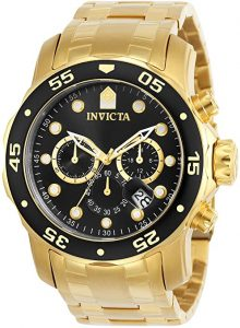 Invicta Pro Driver Collection 18K Gold Plated Men's Watch