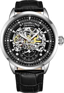 Stuhrling Original Men's Automatic Watch Skeleton Watches for Men